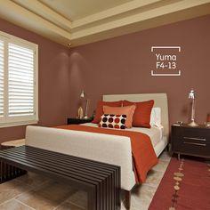 Decora tu habitación con tonalidades que hagan juego con los muebles de tu habitación.
