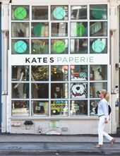 SOHO - Kate's Paperie            435 Broome Street  (between Broadway and Crosby Street)  New York, NY 10013  212.941.9816    NEW Store Hours: Mon-Wed 10am – 7pm, Thurs-Sat 10am – 8pm, Sun 11:30am – 7p