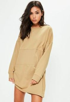 Missguided - Ripped Oversized Sweater Dress Black | fashion ...