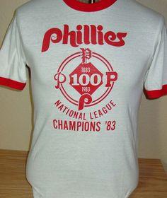 Vintage 1983 Philadelphia Phillies baseball ringer t shirt World Series Medium by vintagerhino247 on Etsy