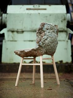 through the understanding that there is 50% to 80% of timber wastage during manufacturing, the chairincorporates waste shavings into its design by using an expanding foam process.