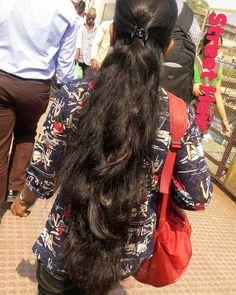 Long Ponytail Hairstyles, Long Hair Ponytail, Long Ponytails, Bun Hair, Braids For Long Hair, Indian Hairstyles, Girl Hairstyles, Long Silky Hair, Long Wavy Hair