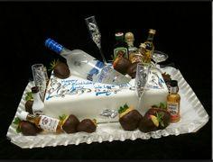 fancy birthday cakes for men Birthday Cakes For Men, Creative Birthday Cakes, Birthday Cake For Husband, Birthday Sheet Cakes, 18th Birthday Cake, 21 Birthday, Birthday Cake Ideas For Adults Men, Alcohol Birthday Cake, 21st Birthday Gifts For Guys