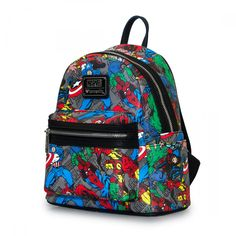 Loungefly x Marvel Character Print Mini Faux Leather Backpack  - Marvel - Brands