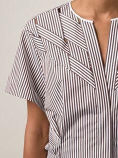 Nina Ricci Woven Striped Shirt - Capitol - Farfetch.com
