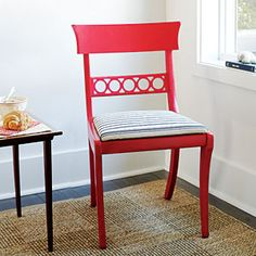 Revive a Chair -- vary the shade of the color you choose for each chair of an old dining room set