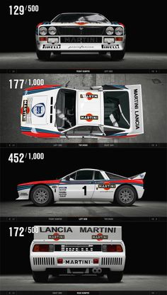 Lancia 037 it was the last rear wheel drive car to win the world rally championship Carros Suv, Martini Racing, Lancia Delta, Le Mans, Car Posters, Performance Cars, All Cars, Car And Driver, Ferrari