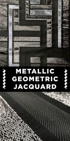 Metallic Geometric Jacquard in Black #Unique #Apparel #Jacket www.bandjfabrics.com