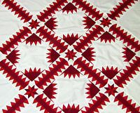 Incredible Patriotic Handmade  Patchwork  New York Beauty  -- QUILT TOP