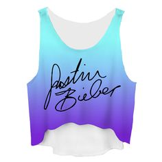 09a62d4012d Justin Bieber Ombre Cropped Tank Top ( 12) ❤ liked on Polyvore featuring  tops