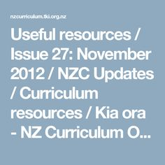 Useful resources / Issue November 2012 / NZC Updates / Curriculum resources / Kia ora - NZ Curriculum Online Kia Ora, Effective Teaching, Oras, Curriculum, November, Classroom, Student, Community, Education