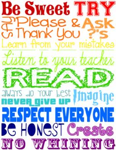 Classroom Rules Poster (Subway Style) from Teaching with a Touch of Twang on TeachersNotebook.com -  (1 page)  - A fun and funky classroom rules poster to welcome the kids into your class!