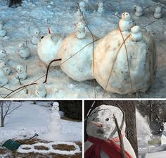 Calvin and Hobbes snow art | Snowmen Disasters: Calvin and Hobbes Come to Life | Man Made DIY ...