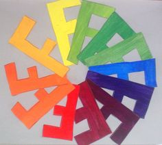 Lessons from the K-12 Art Room: Creative Color Wheels: 7th Grade