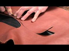 ▶ Leather Knife Review How to Cut Thin and Thick Leather With Craftsman Trimming Knives - YouTube