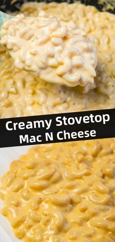Creamy Stovetop Mac and Cheese - This is Not Diet Food Creamy Stovetop Mac and Cheese is an easy and delicious homemade macaroni and cheese recipe made with cheddar cheese soup, heavy cream, mozzarella and cheddar cheese. Cheddar Mac And Cheese, Stovetop Mac And Cheese, Macaroni Cheese Recipes, Creamy Macaroni And Cheese, Queso Cheddar, Best Mac And Cheese, Creamy Cheese, Mac And Cheese Recipe With Velveeta And Cream Cheese, Thanksgiving