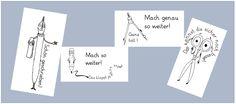 grundschulimpulse: Einfache Lobkärtchen (Aufkleber)