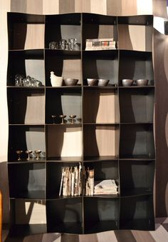Our Iron-ic #bookcase in a #different guise. #Laminated #wood on the back makes it warmer and more #glamorous than ever