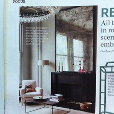 Large aged mercury glass mirror over fireplace mantle....cool