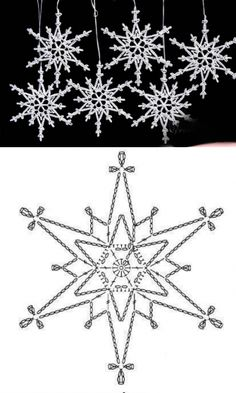 Christmas Balls, Xmas, Crochet Snowflakes, Mandala, Crochet Patterns, Symbols, Knitting, How To Make, Crafts