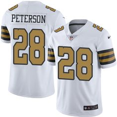 ef0d0a7c4 Nike Saints #28 Adrian Peterson White Men's Stitched NFL Limited Rush Jersey  New Orleans Saints
