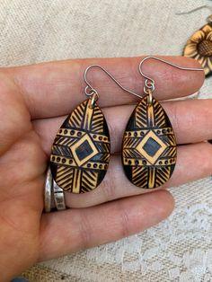 Natural wood earrings Wood earrings Wood jewelry Reclaimed wood earrings Nature lover Hippie accessories Mountain wood.