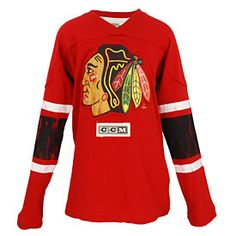 a42f4d8ef Get this Chicago Blackhawks Youth CCM Logo Red Long Sleeve T-Shirt at  ChicagoTeamStore.com