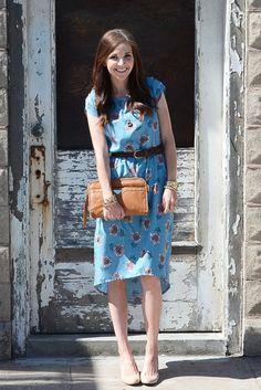 BOLD FLORALS: High-Low Dress Tutorial