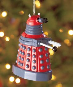 16fa5675550 BBC Doctor Who    Red Dalek    Blow Mold Ornament - Officially Licensed