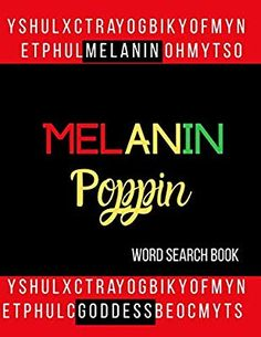 Melanin Poppin Word Search Book: 30 Word Find Puzzles and Inspirational Quotes Books For Black Girls, Puzzles, Word Search, Inspirational Quotes, Amazon, Gift, Life Coach Quotes, Amazons, Puzzle