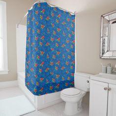 Floral Holiday Pattern Shower Curtain - holidays diy custom design cyo holiday family