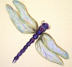 Dragonfly art I will use in decoupage.  No idea where I got it.