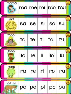 Kindergarten Reading Activities, Alphabet Activities, Kindergarten Worksheets, Preschool Activities, Spanish Lessons For Kids, Learning Spanish, Bilingual Education, Baby Learning, Brain Teasers
