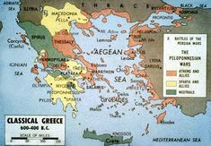 Map of Classical Greece (600-400 BCE)