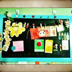 My personal magnetic blackboard.