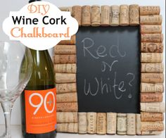 How to make a chalkboard with a wine cork border #diy #wine #diyprojects