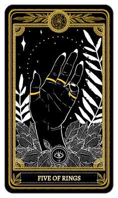 The Marigold Tarot Minor Arcana: Rings, Amrit Brar 2017 the complete deck la… - The tarot is a pack of playing cards Celtic Cross Tarot, September Wallpaper, Arte Dope, Arte Black, Tarot Gratis, Arte Obscura, Psy Art, Occult Art, Tarot Spreads