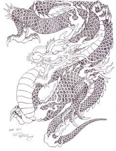 dragon art designs | japanese tattoo dragon by zell381 zell381.deviantart.com