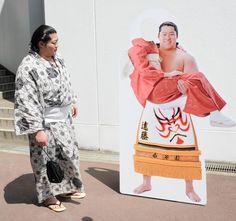 遠藤のお姫様抱っこパネルのお披露目会が本日行われ、パネルと初対面した遠藤。