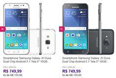 """Samsung Galaxy J5 Duos Dual Chip Android 5.1 Tela 5"""" 16GB 4G Wi-Fi Câmera 13MP - Duas Cores Disponíveis << R$ 74999 em 6 vezes >>"""