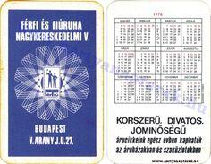 1976 - 1976_0114 - Régi magyar kártyanaptárak