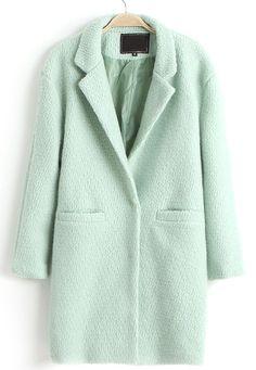 Wollmantel mit Revers und zwei Taschen, mintgrün-Sheinside