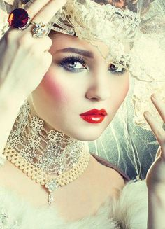 White Lace and Elaborate Collar