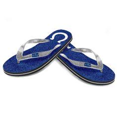 Indianapolis Colts Women's Glitter Flip Flop Sandals