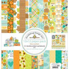 """Doodlebug Flea Market Paper Pack 12""""x12"""""""