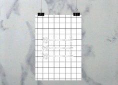 LeBoer, Digital Download, Instant Download, 8x10 Poster, Home Office, Inspiration, Motivation, Nursery, Minimalism, Black and White // Digitaler Download, Sofort Download, A4 Poster, Arbeitszimmer, Kinderzimmer, Minimalismus, Schwarz und Weiß