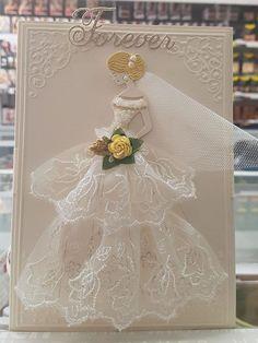 Daniscards – Beauty and inspiration with Ivy Daniscards Daniscards Wedding Day Cards, Wedding Cards Handmade, Wedding Anniversary Cards, Wedding Card Design, Wedding Book, Diy Wedding, Handkerchief Crafts, Prima Paper Dolls, Dress Card