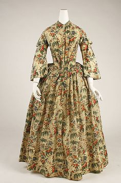 Morning dress Date: ca. 1844 Culture: British Medium: wool