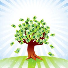 Money tree vector art illustration