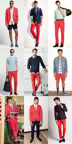 Men's 2014 Spring/Summer Shades Of Red Colour Trend: Cherry Red Lookbook Inspiration